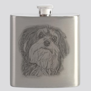 havenese black and white Flask