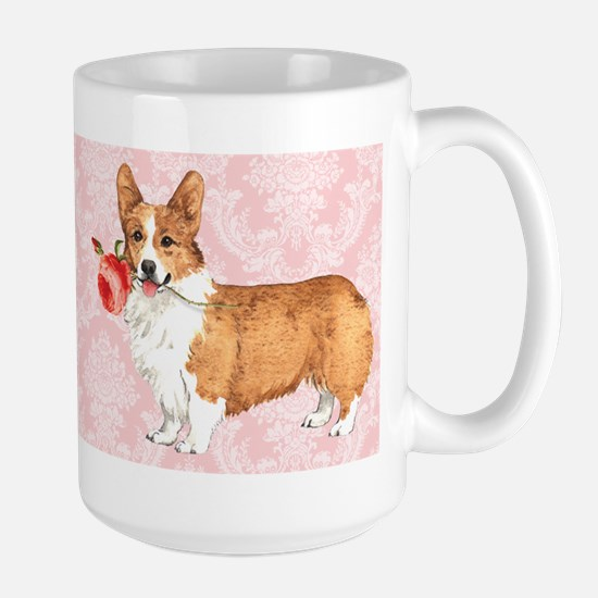 Pembroke Welsh Corgi Rose Large Mug