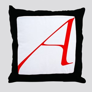 Scarlet Letter - trans Throw Pillow