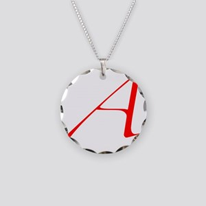 Scarlet Letter - trans Necklace Circle Charm