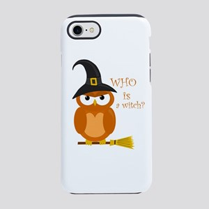 Halloween orange witch owl iPhone 7 Tough Case