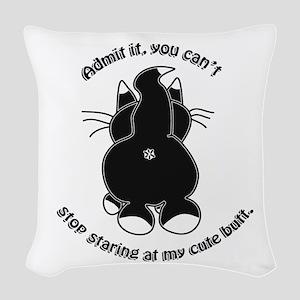 Admit it Cat Butt Woven Throw Pillow
