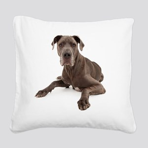 Great Dane Square Canvas Pillow