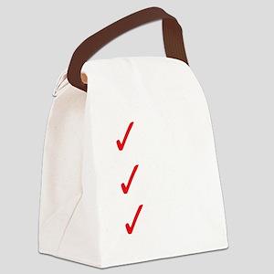 Triathlon-Long-Course-white Canvas Lunch Bag