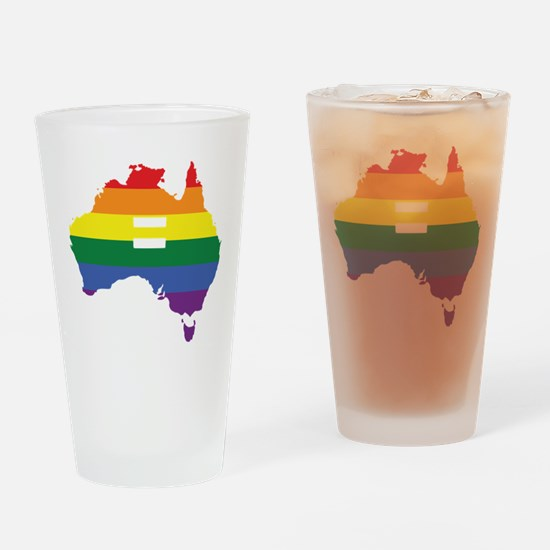 Lgbt Equality Australia Drinking Glass