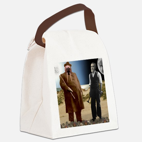 The Walrus  The Carpenter Canvas Lunch Bag