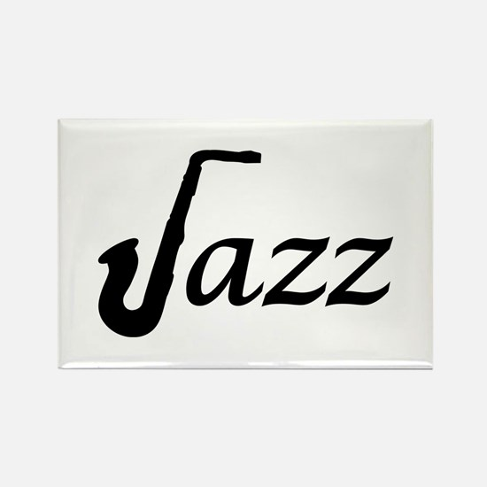 Jazz Saxophone Rectangle Magnet