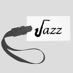 Jazz Saxophone Large Luggage Tag