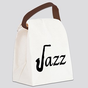 Jazz Saxophone Canvas Lunch Bag