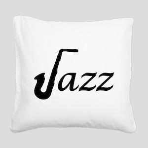 Jazz Saxophone Square Canvas Pillow