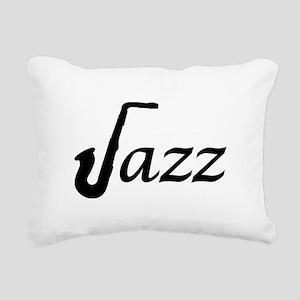 Jazz Saxophone Rectangular Canvas Pillow