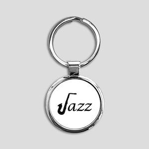 Jazz Saxophone Round Keychain