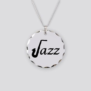 Jazz Saxophone Necklace Circle Charm