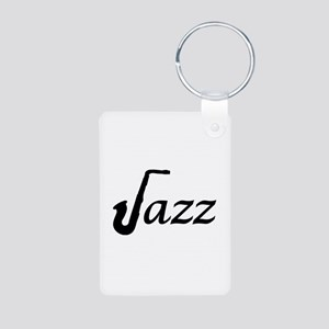 Jazz Saxophone Aluminum Photo Keychain