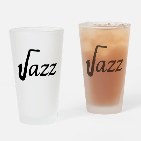 Jazz Saxophone Drinking Glass