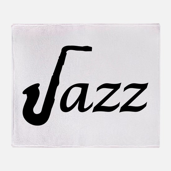 Jazz Saxophone Throw Blanket