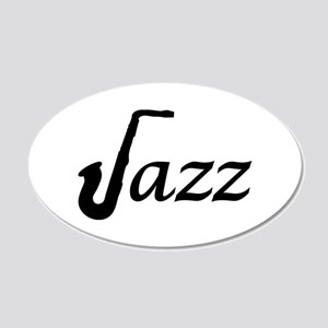 Jazz Saxophone 20x12 Oval Wall Decal