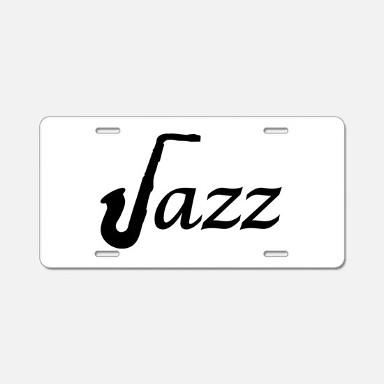 Jazz Saxophone Aluminum License Plate