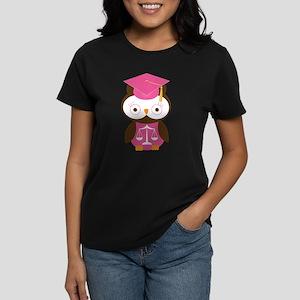 Graduate Law Student Owl Women's Dark T-Shirt