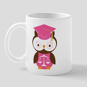 Graduate Law Student Owl Mug