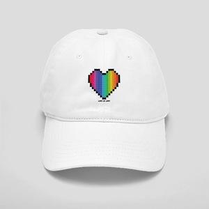 Love Is Love Lgbt Rainbow Heart Baseball Cap