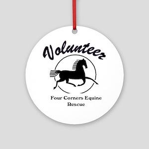 Volunteer logo Round Ornament
