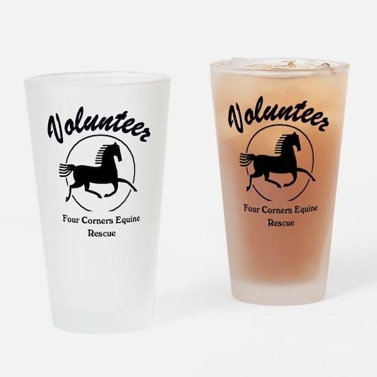 Volunteer logo Drinking Glass