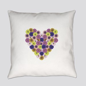 Pansy Heart Everyday Pillow