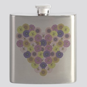 Pansy Heart Flask