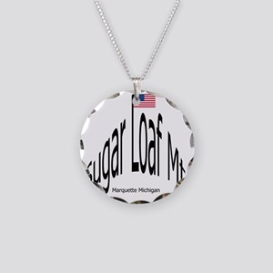 BlkSugarLoafMtGif Necklace Circle Charm