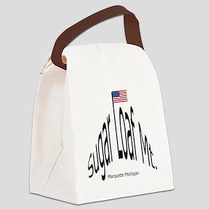 BlkSugarLoafMtGif Canvas Lunch Bag