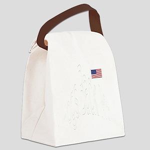 WhtHogsBackMtGif Canvas Lunch Bag