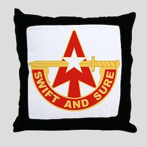 32nd Army Air Defense Artillery Comma Throw Pillow