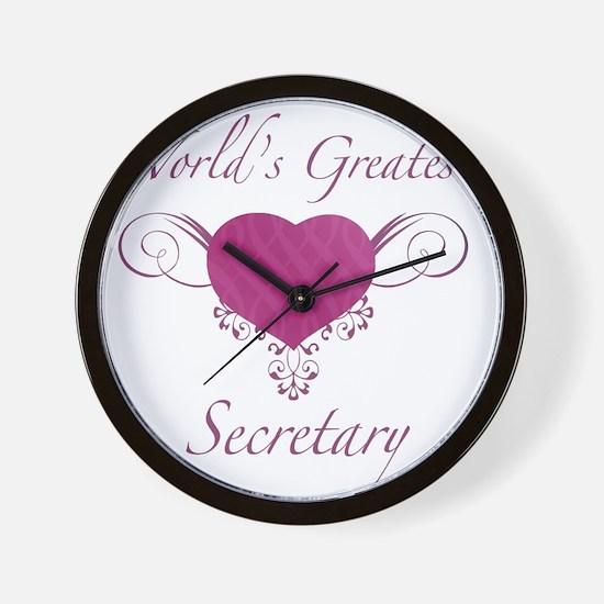 Heart_Secretary Wall Clock