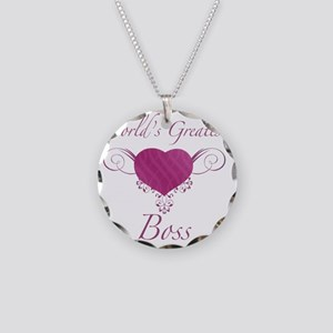 Heart_Boss Necklace Circle Charm