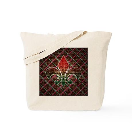 Xmas Fleur Mosaic Tote Bag