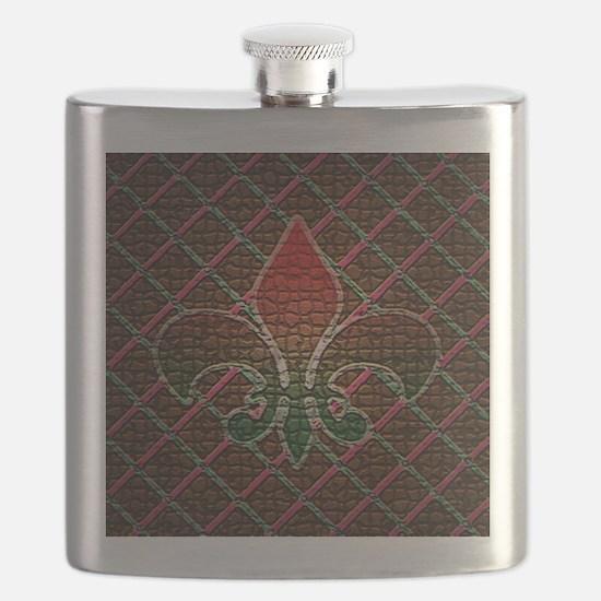 Xmas Fleur Mosaic Flask