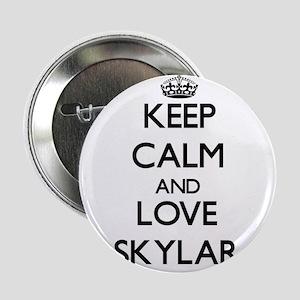 """Keep Calm and Love Skylar 2.25"""" Button"""