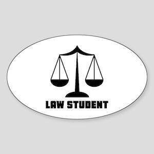Law School Student Sticker (Oval)