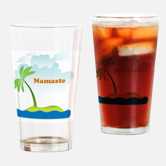 Namaste Drinking Glass