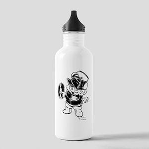 dj cat winter lg Stainless Water Bottle 1.0L