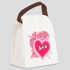 ava Canvas Lunch Bag