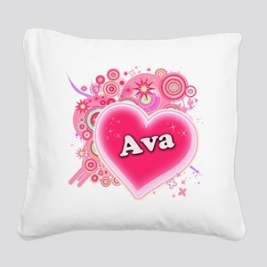 ava Square Canvas Pillow