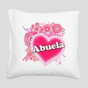 abuela Square Canvas Pillow