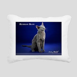 Russian Blue2 Rectangular Canvas Pillow