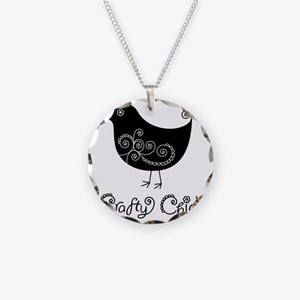 craftychick Necklace Circle Charm