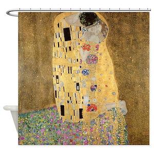 Gustav Klimt The Kiss Shower Curtains