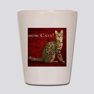 Show Cats Cover Shot Glass