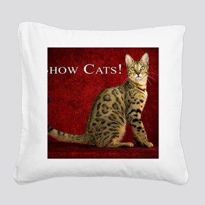 Show Cats Cover Square Canvas Pillow