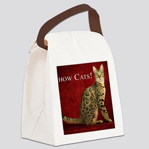 Show Cats Cover Canvas Lunch Bag